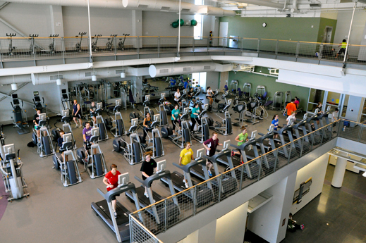 Students and staff workout at the Integrated Wellness Center