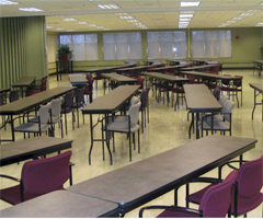 The Tau conference rooms feature good space, flexible seating, and good lighting.