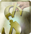 Dollar sign puzzle piece icon
