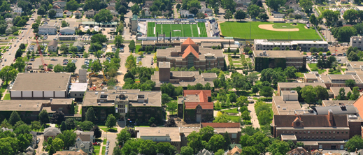 Aerial view of Winona Campus