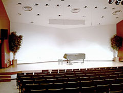 The dazzlingly lit recital in WSU's Performing Arts Center hosts a wonderfully restored grand piano and wonderful acoustics for solo and small ensemble performances.