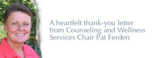 Pat Ferden, Counseling and Wellness Services Chair