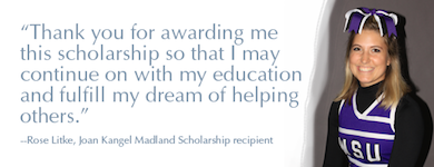 Rose Litke, scholarship recipient