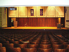 Somsen Auditorium is the University's oldest and largest performance and lecture space, and features an adaptable proscenium stage and promenade balcony.