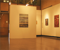 The Watkins Gallery is a well lit space with a moveable wall, which allows exhibitors to make the best of their show.