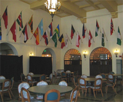 Lourdes Dining Hall Flags